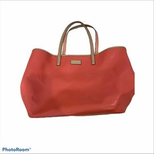 Coach Park Metro Leather Coral Large Tote Purse